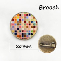 Wholesale Metal Star China - Autism heart antique bronze plated metal pin autism Puzzle Pieces brooches exquisite color mosaic badge women Mandala pins