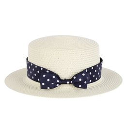 Wholesale Decorated Sun Hats - Wholesale- Women 2017 Summer Beach Wide Brim Sun Hat Straw Hat Floppy Pearls Decorate Caps