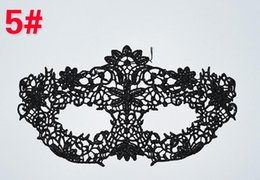 Wholesale Top Sexy Cosplay Girl - Top Quality Sexy Lace Party Masks Women Ladies Girls Halloween Xmas Cosplay Costume Masquerade Dancing Valentine Half Face Mask