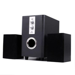 Wholesale Computer Speaker Bar - High Quality 25W 2 Channel Laptop USB Wired Stereo Wooden Speakers Built-in Sound Bar For PC Computer 3 Pieces a Set