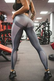 Wholesale Spandex Tight Pants Sexy Women - Yoga Pants Sports 2017 Sexy Tall Waist Stretched Gym Clothes Spandex Running Tights Women Sports Leggings Fitness fast shipping
