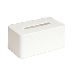 Wholesale Toilet Tissue Holders Wholesale - Wholesale- rectangular Plastic facial tissue napkin box toilet paper dispenser case holder home office decoration (white) 21.5*9.3*12cm