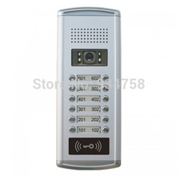 Wholesale Video Intercom Units - Wholesale- 700TVL CMOS Color Camera For Video Doorphone Doorbell Intercom Network Type 12 Units System
