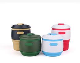 Wholesale Household Products Wholesale - Silicone coffee cup Creative silicone Household products Portable Mug Foldable 301-400ml The latest fashion creative cup Work travel Essenti