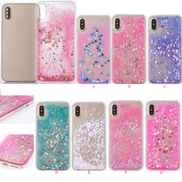 Funda líquida Heart Love para Iphone XS MAX XR X 8 Plus 7 6 5 Plástico duro + TPU Quicksand Glitter Sparkle Magical Dynamic Powder Cover desde fabricantes