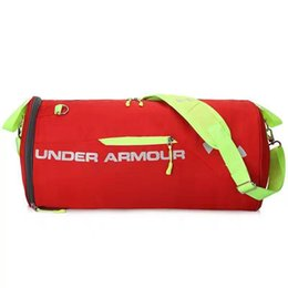 Wholesale Interior Light Colors - Brand Outdoor Sports Fitness Bag Colors Cylinder Package Big Size Hand Luggage Shoulder Exercise Training Duffel Basketball  Bags Men&Women