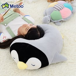 Wholesale Baby Turtle Plush Toy - Plush Stuffed Ocean Animal Penguin Turtle Pillow Doll Baby Kids Toys for Girls Children Birthday Gifts Metoo Doll