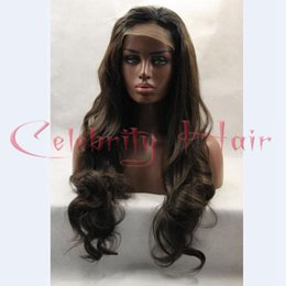 Wholesale Long Hair Wave Style - New Hair Style Synthetic Lace Front Wigs With Baby Hair Long Body Wave Front Lace Wig Synthetic Lace Front Wig Heat Resistant