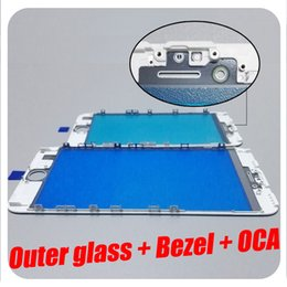 Wholesale Iphone Glass Repairs - Excellent Quality For iPhone 6 6S 7 8 Plus Bezel Frame With OCA Outer Glass Lens Assembled For iPhone LCD Repair