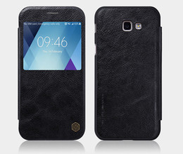 Wholesale Original Nillkin Leather Case - For Samsung A5 2017 A7 Original NILLKIN Qin Series Wallet Flip Leather Cover Case For Samsung Galaxy A5 2017 A520 Coque Fundas A720F