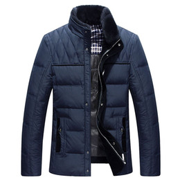 Wholesale Raccoon Clothing - #38 Men's Down Jacket Parka Winter Long Sleeve Thicken Hooded Warm Men Down Coat Hooded Mens Clothes