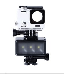 Wholesale Gopro Camera Waterproof - 3W Waterproof Underwater LED Flash Light Sports Camera Accessories Gopro Diving Fill Light Camera Sewer Fill Light