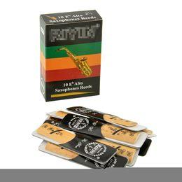 Wholesale Saxophone Riyin Reeds - wholesale SEWS Hot 10pcs Classic Alto Sax Reeds Reed For Riyin Saxophone 2.5 Strength 2 1 2 Music Xmas Gift Useful For Musical Instruments