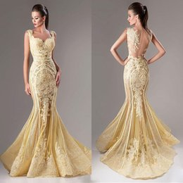 Wholesale Neckline Beading - Fashion Lace Appliqued Dresses Evening Wear Mermaid Sequins Sweetheart Neckline Sheer Backless Prom Dress Tulle Beaded Formal Evening Gowns