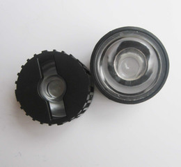 Wholesale 15 Degree Led - Wholesale- 100pcs 5 8 15 25 30 45 60 90 120 degrees LED Lens With Black Holder For 1W 3W 5W High Power LED Lamp Light