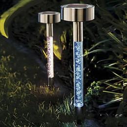 2019 12-вольтовая лампочка Солнечный пузырь кристалл газон свет открытый сад украшения кола лампа бесплатная доставка LLFA