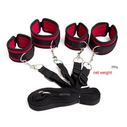 Wholesale Sex Furniture Beds - Bdsm Bondage Furniture Nylon Sponge Rope Under Bed Restraints Tools With Handcuffs Sex Toys For Couples with Adjustable Strap