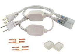 Wholesale Usa Strip - 110V 120V 220V 230V 240V EU USA Power Cords Plug for 3528 5050 LED Strip Lights with 2 PIN Needles and End Caps MYY
