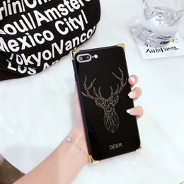 Wholesale Case Iphone Panda Pink - Cute Animal reindeer Cases for iPhone 7 Case Luxury COCO Mirror Panda Silicon Back cover for iPhone 7 Plus 6 6s