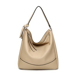 Wholesale Over Shoulder Bags - Wholesale- Women Leather Shoulder Bag new bag fashion Crossbody Messenger bag Over Designer Shoulder Tassel handbags for Ladies