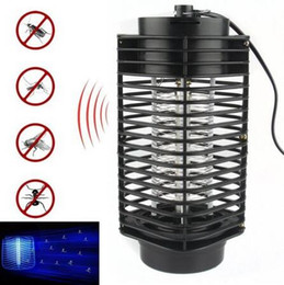 Wholesale Light Traps - Electronic Mosquito Killer Electronic Insect Killer Bug Zapper Trap Photocatalyst Fly Zapper UV Night Light Trap Lamp CCA6559 50pcs