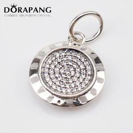 Wholesale Bracelet Silver Coins - DORAPANG Authentic 925 Sterling Silver Necklace PAN Signature With Crystal Pendant Fit For Women Compatible With Bracelets DIY Jewelry 2096