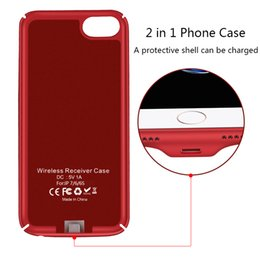 Wholesale Iphone Cable Au - Wireless Charger Receiver Case Cover 2 in 1 Phone Case Wireless Charging & Cable Charging for iphone7 6 6S Case
