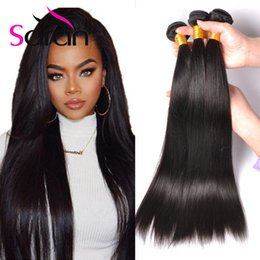 Wholesale Cheap Great Hair - Cheap Brazilian Human Hair Bundles Straight Hair Weaves 3 4 Pcs Lot Brazilian Indian Wet And Wavy Human Hair Dyeable 7A Great Quality