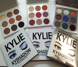 Wholesale Fall Drops - Drop Shipping Kyshadow THE BURGUNDY Bronze Holiday Fall Collection Purple PALETTE Kylie Jenner Cosmetics Eyeshadow Palette Makeup 9 Colors