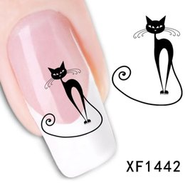 Wholesale Temptations Cat - Loveliness Cat Nail Stickers Gel Beauty Decal makeup temptation Cartoon cat sweetheart Animation 50pcs free ship