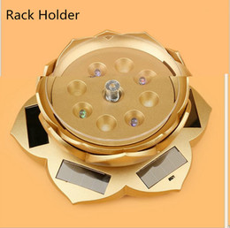 Wholesale Watch Holder Stand Sell - Hot selling 360 Turntable Rotating Base Jewelry Watch Ring bracelets Stand Display Solar jewelry display stand Rack Holder