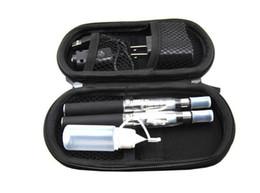 Wholesale Ego Bag Set - Double eGo CE4 Starter Kit E Cigarette 650 eGo t battery CE4 Clearomizer E Cig Set Zipper bag Case Kit