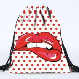 Wholesale Womens Back Packs - emoji Drawstring Backpack 3D printing School Backpacks Men Women Bagpack Shoulder Bags Shopping Shopper Bag womens Back Packs Bookbags Gifts