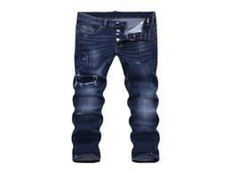 Wholesale Xs Micro - SS17 Summer Skinny Button Fly Jeans European Brand Micro-elastic Denim Desinger D1876-D1884 Slim Fit Shabby Holes Badge MENS Jeans