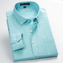 2019 schmiedeeisener mann 100% Baumwolle Oxford Männer Kleid Shirts Hohe Qualität männer Klassische stil Formale Business Social Shirts Arbeitskleidung No-bügeln günstig schmiedeeisener mann