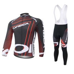 Wholesale Orbea Long Sleeve Cycling Jerseys - New! Orbea quick step long sleeve Cycling jersey Set Bike Clothing Suit ropa ciclismo hombre Cycling bib pants E0509