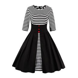 Argentina 2018 verano 1335 Retro Vestido Patchwork cebra botón de la raya de la década de 1950 Vintage Swing mujeres casuales Maxi Wrap Dress Evening Party más tamaño Suministro