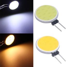 Wholesale G4 Led Light Globe - RV boat marine corn bulb G4 COB LED crystal chandilier Lamp Light White AC12V DC12V Halogen Lamp Spot Light Bulb