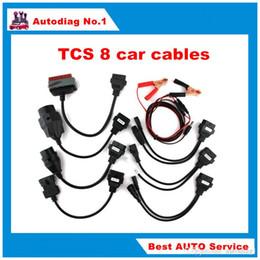 Wholesale Obd2 Adapter Usb - TCS Diagnostic tool full set tcs car cables TCS 8 car cables OBD2 Car Adapters