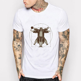 Wholesale Wholesale Adult T Shirts - Wholesale- The Big Lebowski Vitruvian Adult T Shirt Men Womens Dude Funny Movie Short Sleeve T-Shirt Harajuku Style Cheap T-Shirt