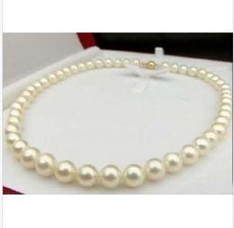 "Wholesale Pearl Real Akoya - REAL BEAUTIFUL AAA+ 9-10 MM NATURAL AKOYA WHITE PEARL NECKLACE 18"""