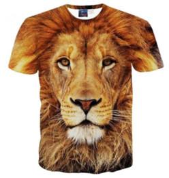 leão 3d do rei camiseta Desconto Mais recente Moda Masculina / Mulheres Grassland King Leão Estilo Verão Engraçado Unisex 3D Impressão Casual T-Shirt S --- 5XL AA523