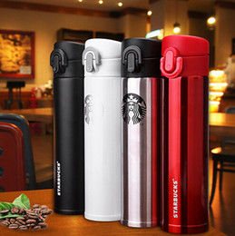 Wholesale wholesale starbucks mugs - 4 kind of Colors Starbucks Insulation Cup Vacuum Flasks Thermos Stainless Steel Insulated Thermos Cup Coffee Mug Travel Drink Bottle