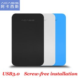 Wholesale External Slim Enclosure - Wholesale- ACASIS FA-07US USB 3.0 to SATA External for 2.5 inch SSD HDD Enclosure Mobile hard disk Box Slim Easy to Carry support 4TB 5Gbps