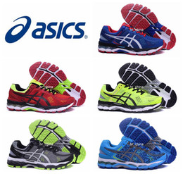 Wholesale Low Boots For Men - 2017 New Asics Gel-Kayano 22 Running Shoes For Men Wholesale Top Quality Cushion Boots Breathable Athletic Sport Sneakers 40.5-45
