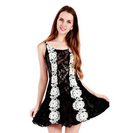 Wholesale Embroidery Dress Shop - Plus Size Elegant Lace Mini Dress Lovely Sleeveless Lace Embroidery Hollow Out Ukraine Style Lolita Fancy Dress Online Shopping WB009018