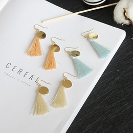 Wholesale Bohemia Earring - New Tassels dangle Earrings for Women & girls Multi-color earrings New design fashion summer style bohemia dangle Earrings jewelry for gifts