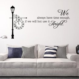 Wholesale Self Adhesive Wall Time - 74x40cm English Motto Always Have Time Wall Sticker Removable Art Mural Decal for Home Decoration Children's Bedroom Kids Room