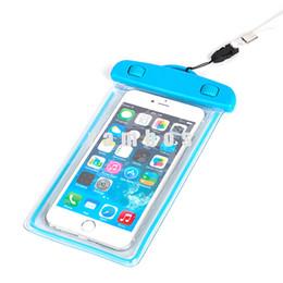 Прозрачный водонепроницаемый чехол для мобильного телефона онлайн-Водонепроницаемая сумка для мобильного телефона Прозрачный прозрачный чехол для водонепроницаемого чехла с ремешком для iPhone 6 плюс