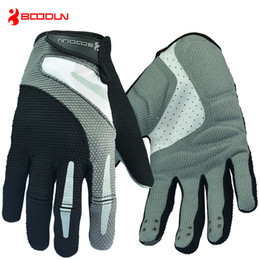 Wholesale Pink Bicycle Accessories - Boodun Full Finger Cycling Gloves Men Bicycle Sports Gloves Accessory Road Mountain Bike Non-slip Breathable Gloves